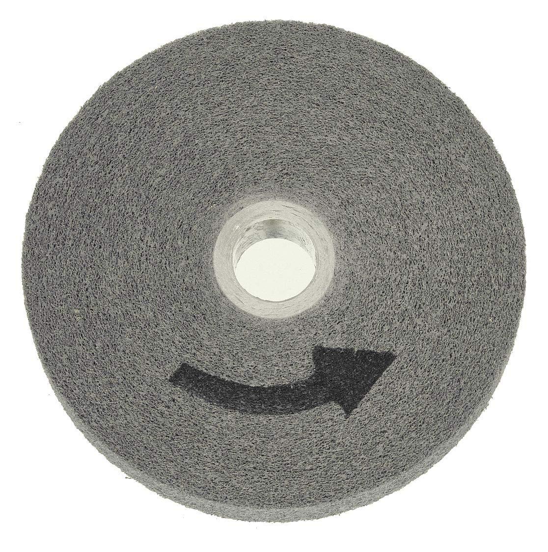 Saint-gobain Abrasives 6'' Metal Finishing Convolute Wheel, 1/2'' W, 1'' Arbor Hole, Fine Silicon Carbide by Norton Abrasives - St. Gobain