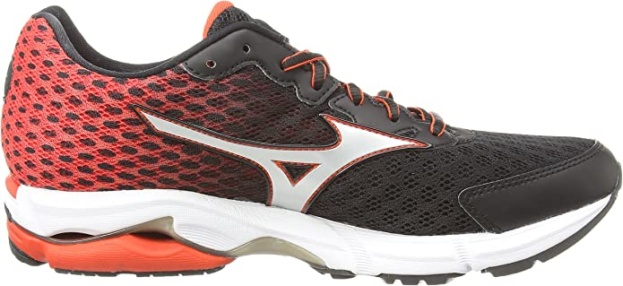 MizunoWave Rider 18 - Zapatillas de running hombre , color negro (black/silver/orange), talla 40: Amazon.es: Zapatos y complementos