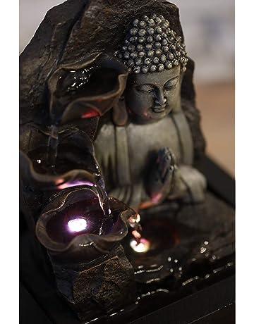 ZenLight SPIRITUALITE - Fuente de polirresina de Color marrón Oscuro, 21 x 21