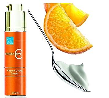 Crema Hidratante Aclarante y Anti Manchas con AHA y Vitamina C EnergyCssime 50 ml: Amazon.es: Belleza