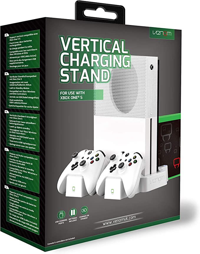 Venom Xbox One S Vertical Charging Stand and Rechargeable Battery ...