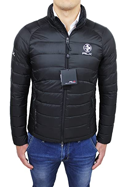 best authentic b8623 cf997 Ralph Lauren Piumino uomo Original nero giubbotto bomber ...