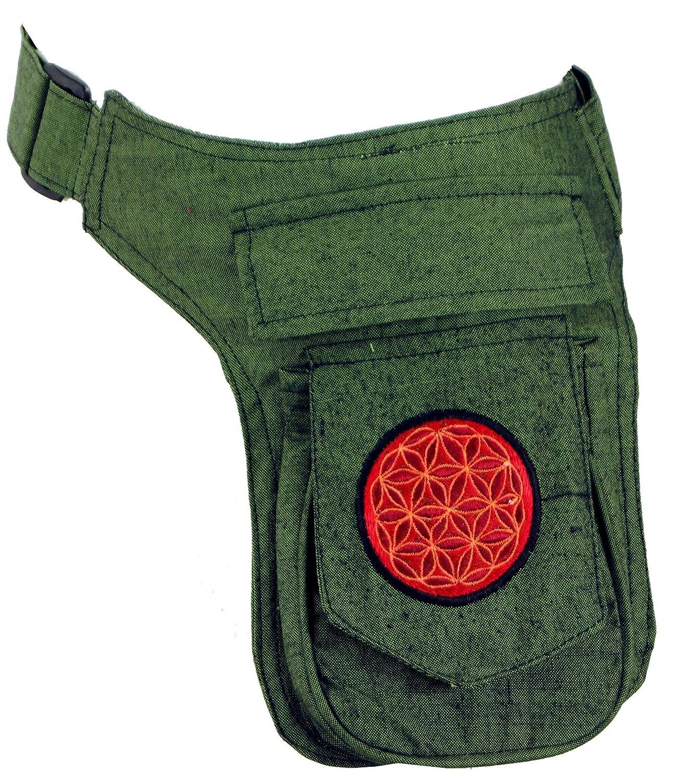 Algod/ón Negro Bolso Lateral GURU-SHOP Bordado Goa Belt Bag Adultos Unisex Bolsas Laterales Para Cintur/ón