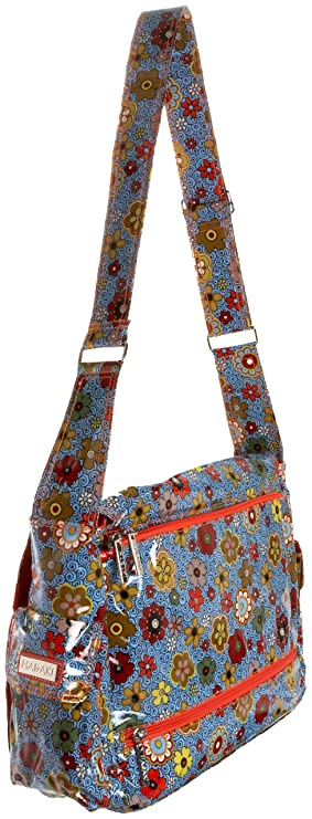 Amazon.com: Hadaki Multitasker Pod Laptop Messenger Bag,Floral ...