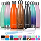 Water Bottles Arteesol Stainless Steel Insulated Water Bottle 350ml 500ml 750ml (12OZ / 17OZ / 25OZ) BPA Free Double-Walled Vacuum Flask for Sports Workout Hot and Cold for 12 Hours (Midnight 350ml)