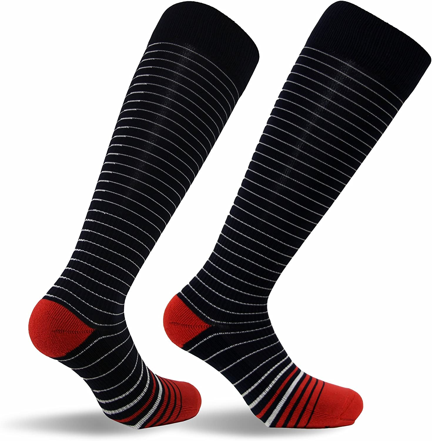 Travelsox TSS6000 Best Patented Graduated Compression Performance Travel /& Dress Socks With DryStat Pairs