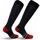 Travelsox TSS6000 Best Patented Graduated Compression Performance Travel & Dress Socks With DryStat Pairs