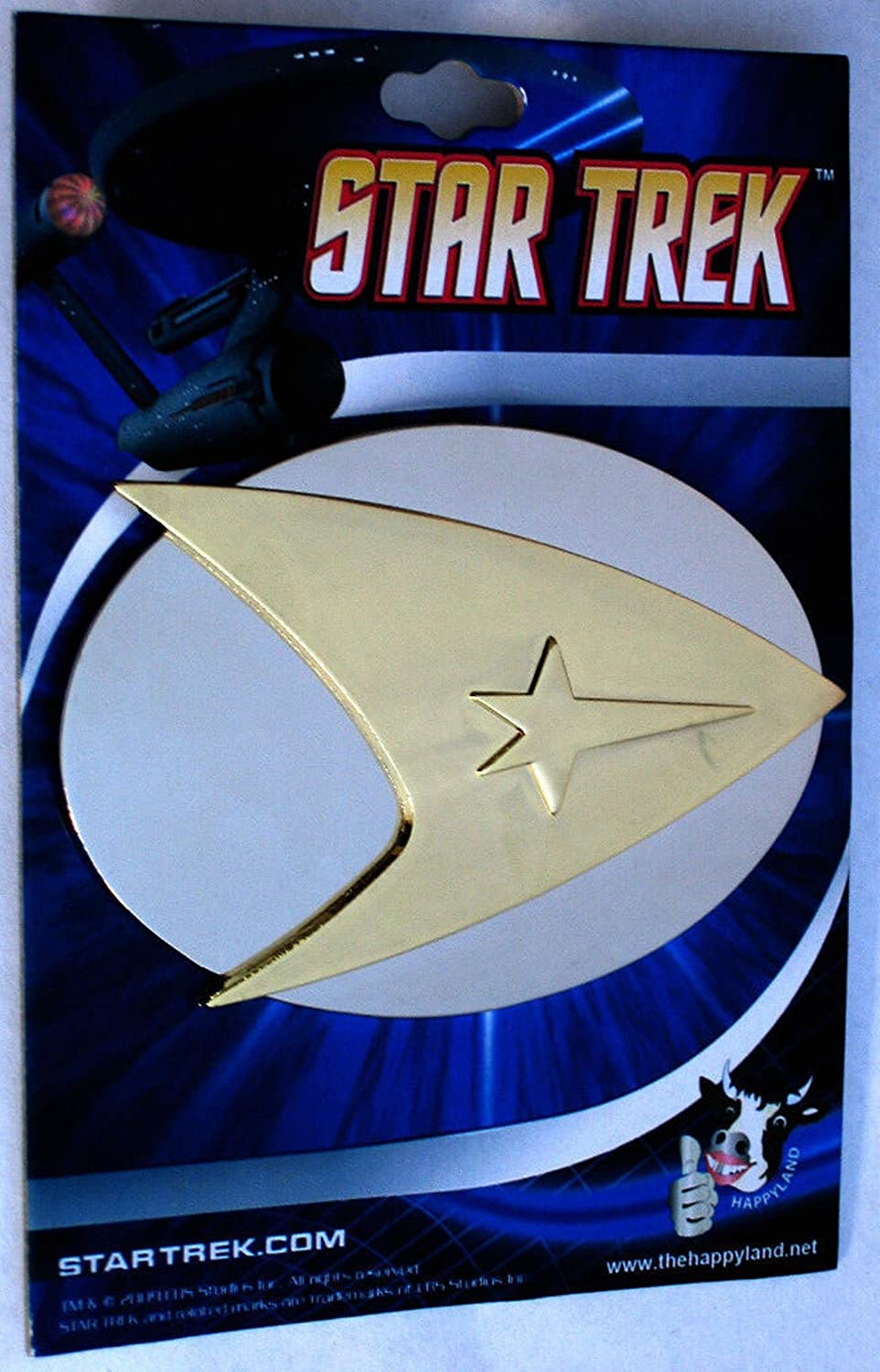 STAR TREK Original Series COMMAND Goldtone/Silvertone BELT BUCKLE