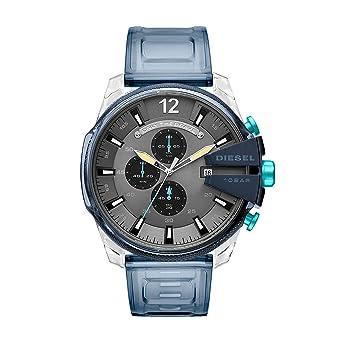 Diesel Reloj Cronógrafo para Hombre de Cuarzo con Correa en PU DZ4487: Amazon.es: Relojes