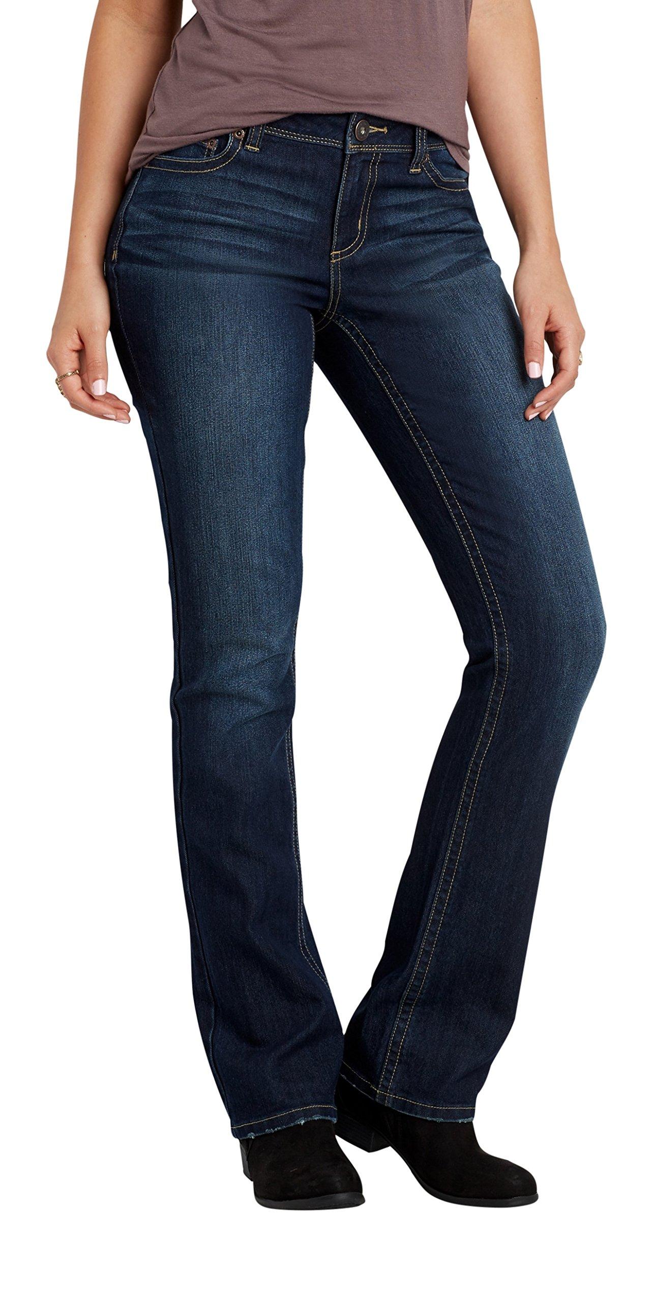 maurices Women's Denimflex Slim Boot Dark Wash Jeans 7/8 Dark Sandblast by maurices (Image #1)