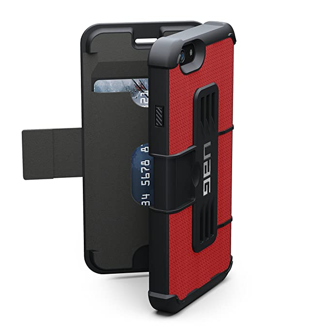 100% authentic 35d01 4a81b UAG Folio iPhone 6/6s Feather-Light Composite [RED] Military Drop Tested  Phone Case
