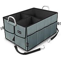 Kofferraumtasche, EletecPro Auto Kofferraum Organizer aus Polyester 2-in-1 Faltbare Wasserdicht Große Kapazität Ideal für Auto, SUV, Minivan, Truck (mit Klett, Größe18,9 * 11 * 3,1 Zoll )