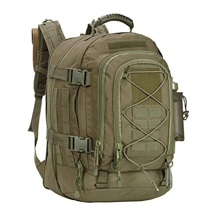 WolfWarriorX Military Tactical Assault Backpack for Men Expandable Travel Backpack Waterproof Outdoor 3-Day Bag,Large,Molle System for School,Hiking,Trekking,Outdoor Sports,Work