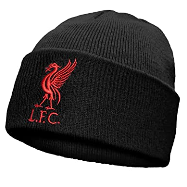 Liverpool FC Official Football Gift Knitted Bronx Beanie Hat Liverbird ( Black)  Amazon.co.uk  Clothing de4839b91257