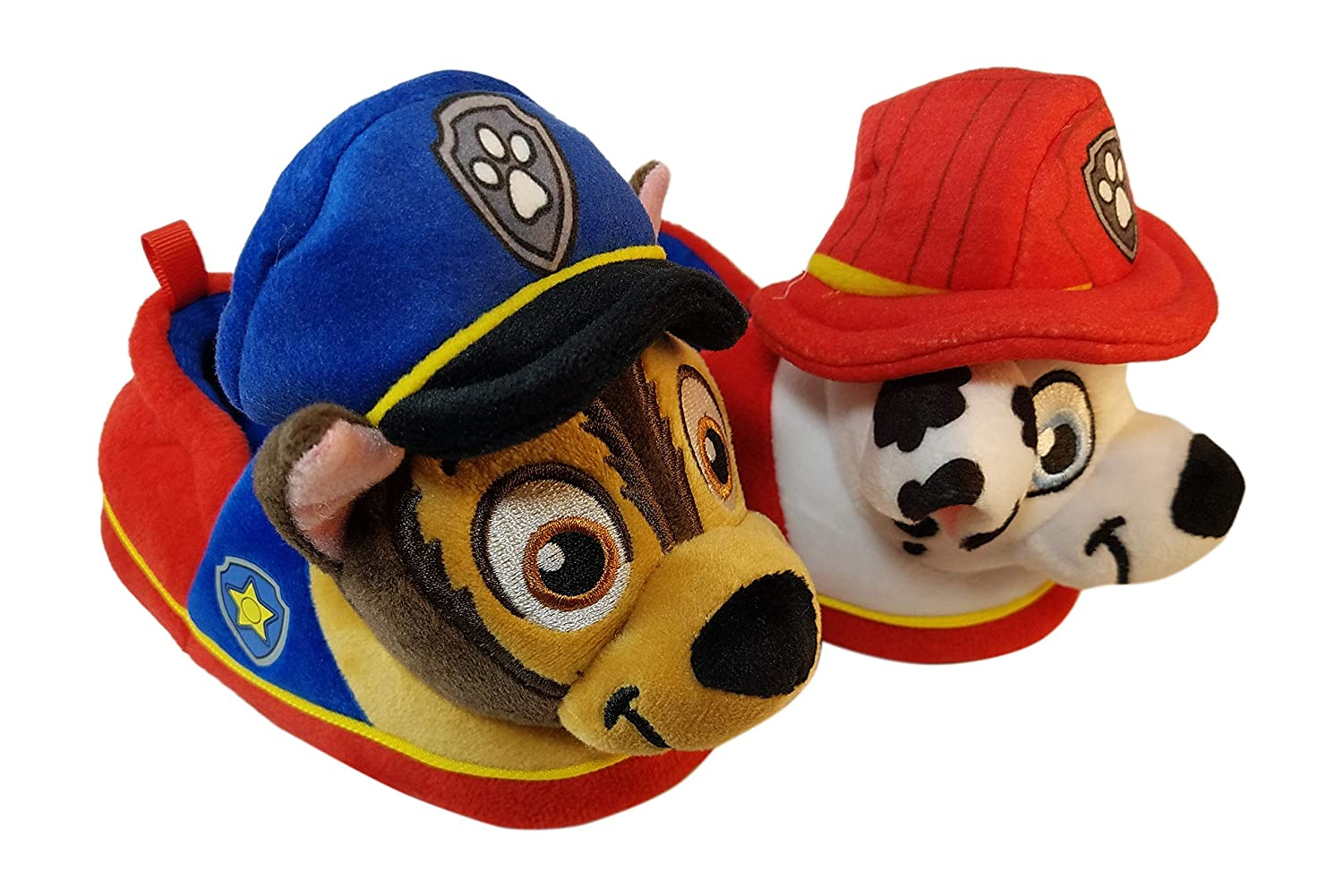 Paw Patrol Boys Slippers with Chase and Marshall