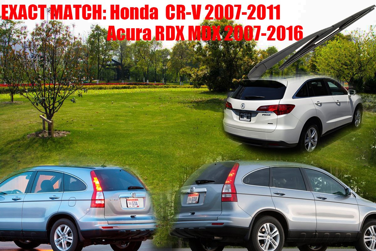 autoboo trasero Parabrisas Ventana Trasera Limpiaparabrisas Brazo con cuchilla para Honda CRV CR-V 2008 - 2011 nuevo 360 mm 14