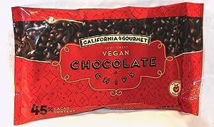 45% Cocoa Vegan Chocolate Chips Dairy Free Kosher Gluten Free Nut Free (3 Pack)