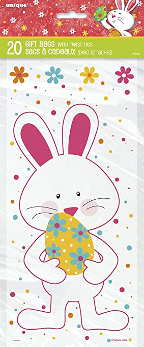 Cellophane happy easter bunny party bags pack of 20 amazon cellophane happy easter bunny party bags pack of 20 negle Gallery