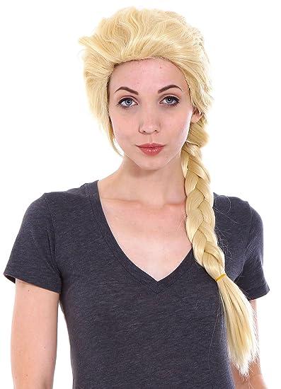 Amazon.com : Women's Frozen Elsa Adult Costume Wigs for Halloween ...