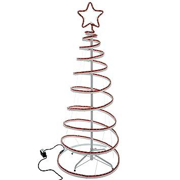 Werchristmas flashing 3d spiral christmas tree rope light werchristmas flashing 3d spiral christmas tree rope light silhouette 5 feet150 cm aloadofball Choice Image