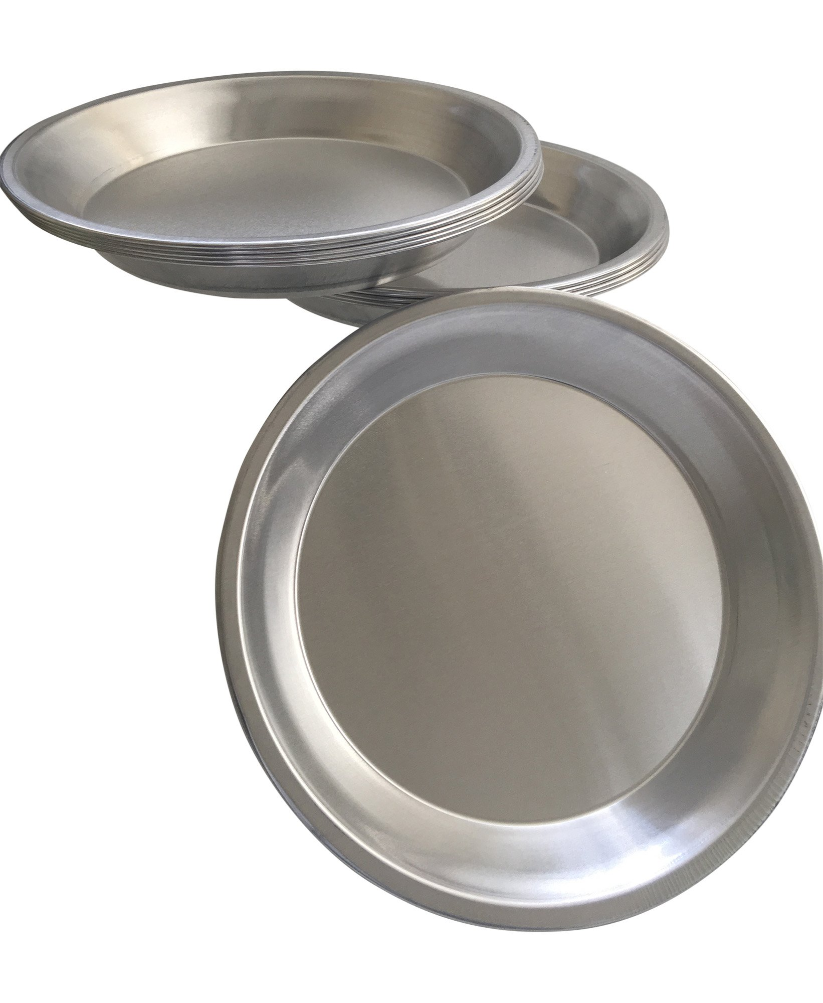 Pie Plate Aluminum Metal 9 Inch pan - Set of 10