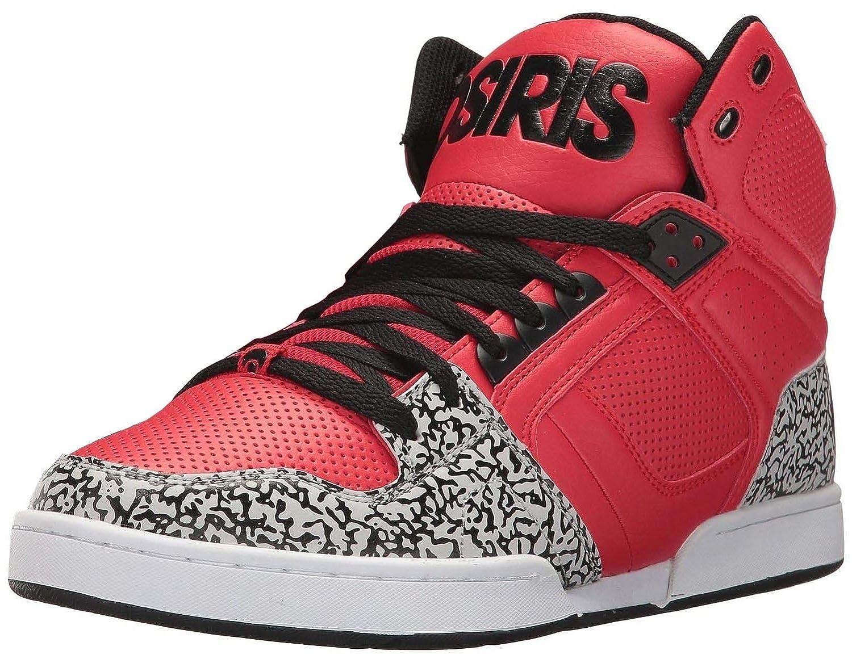 #Osiris NYC 83 Red Black Mens Hi Top Skate Trainers