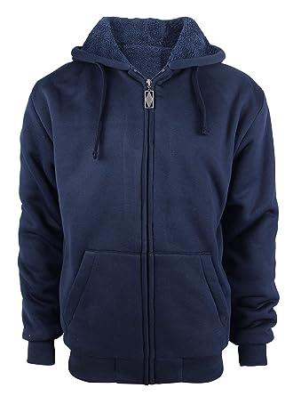 ca638becc6c1 SWISSWELL Hooded Sweatshirt Men Zipper Sport Hoodies Jacket Navy US 3XL