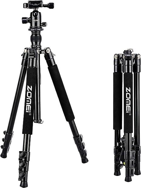 Zomei Q555 trípode de Viaje Ligero para cámara réflex Digital ...