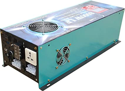 DC 24V 5000W LF Pure Sine Wave Power Inverter DC 24V to AC 110V with 80A BC//UPS
