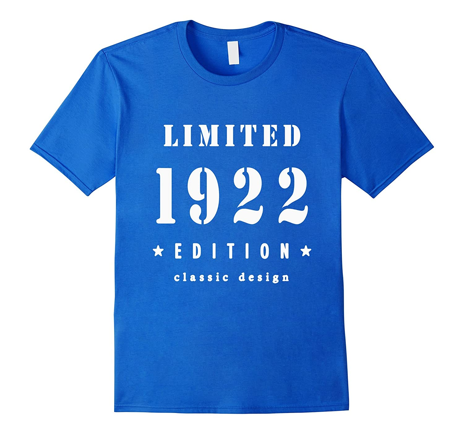 95th Birthday T Shirt Vintage Made In 1922 Gift Ideas Guys TH
