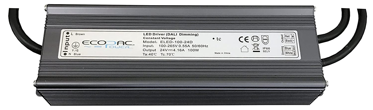 Ecopac ELED-100-D DALI Dimmable LED Driver 100W 24V