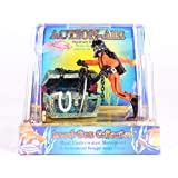 Penn Plax Aquarium Decoration With Moving Treasure Chest, Floating Diver, and Bubble Action 4 Inches High - 065