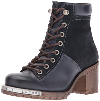 FLY London FLY London WoMen Leal689fly Combat Boot Brown espresso distressed Supplier