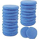Fasmov Microfiber Applicator Pads Wax Applicator-20 Pack, Blue