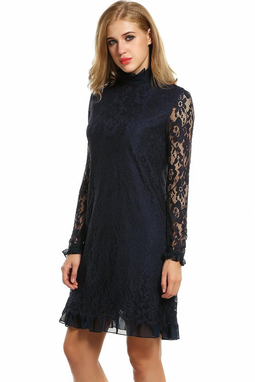 Zeagoo Damen Elegant Spitzenkleid Cocktailkleid Abendkleid ...