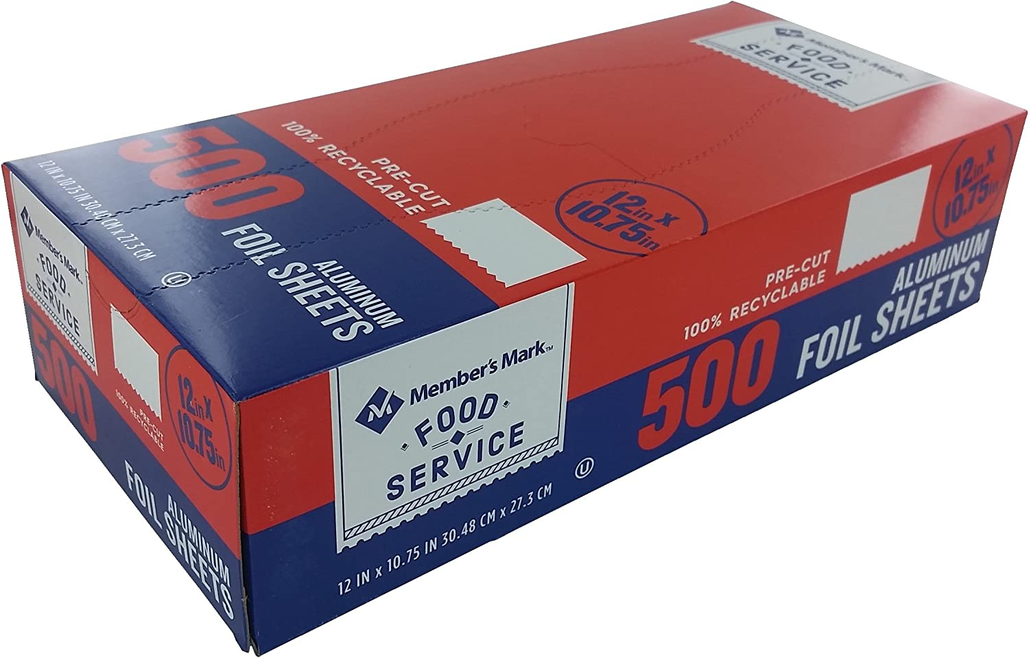 Daily Chef Foil Sheets, 12 x 10.75in. (500ct.) (pack of 2)