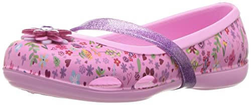 2a051ee41bb3 crocs Kids  Lina Graphic GS Flat  Crocs  Amazon.in  Shoes   Handbags