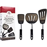 Cooking Utensils Set By Mastecook,Top-Grade High Heat Resistant Silicone, Slotted Flexible Turner Set, The Best Kitchen Utensils & Accessories For Baking & Cooking