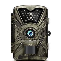 Fotocamera de Caccia Earthtree 12MP 1080P Fototrappola Infrarossi Invisibili Movimento Attivato 0.5s a Scatto Modalita' Notturna 65ft con 2.4 Pollici Schermo LCD Impermeabile IP66 Camera per la Caccia