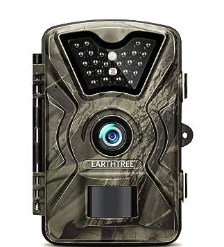 Cámara de Caza, Earthtree 12MP 1080P Impermeable IP66 Nocturna para Vigilancia Trail Cámara con PIR