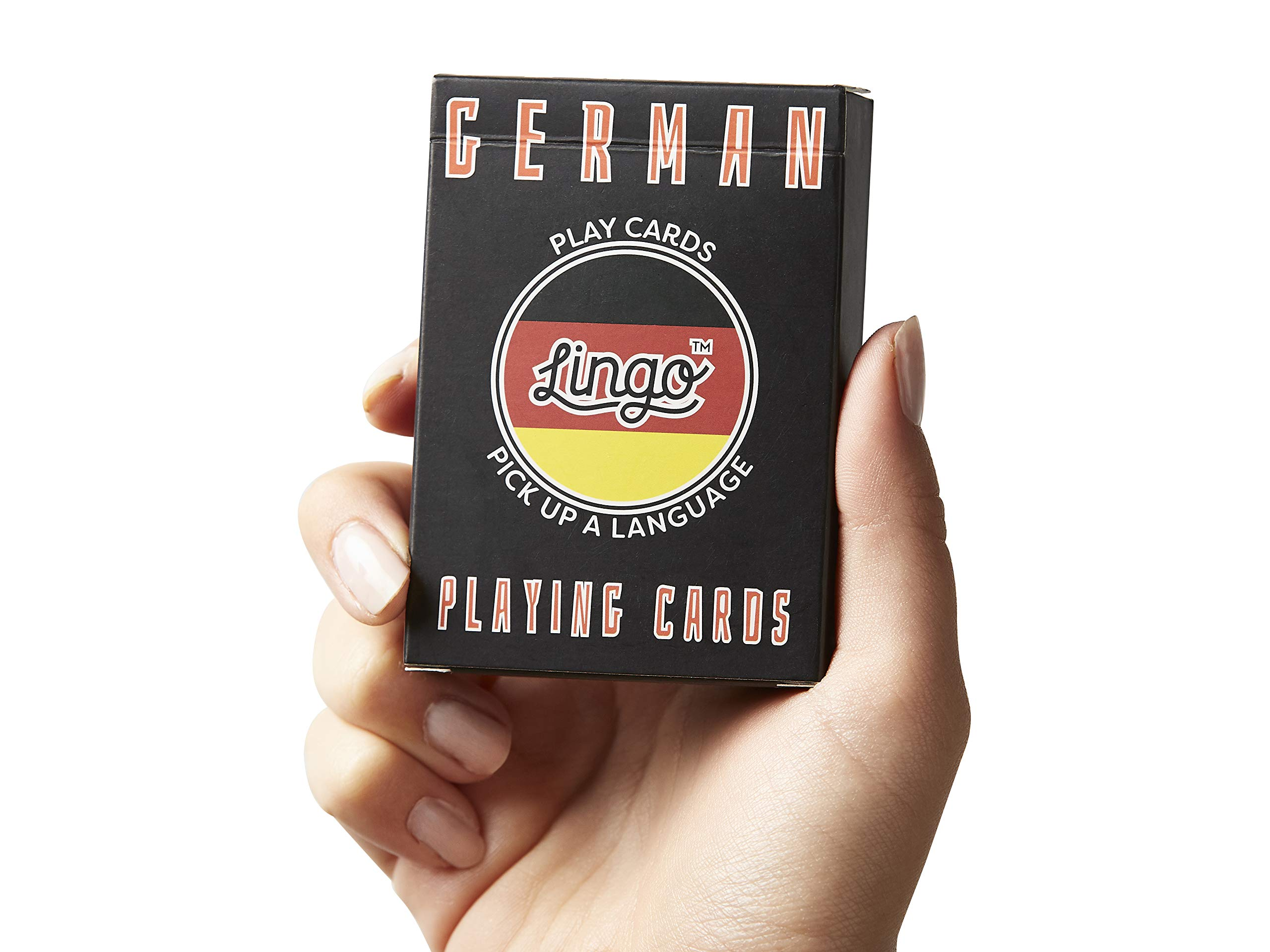German- Lingo Playing Cards | Language Learning Game Set | Fun Visual Flashcard Deck To Increase Vocabulary and Pronunciation Skills - 54 Useful Phrases