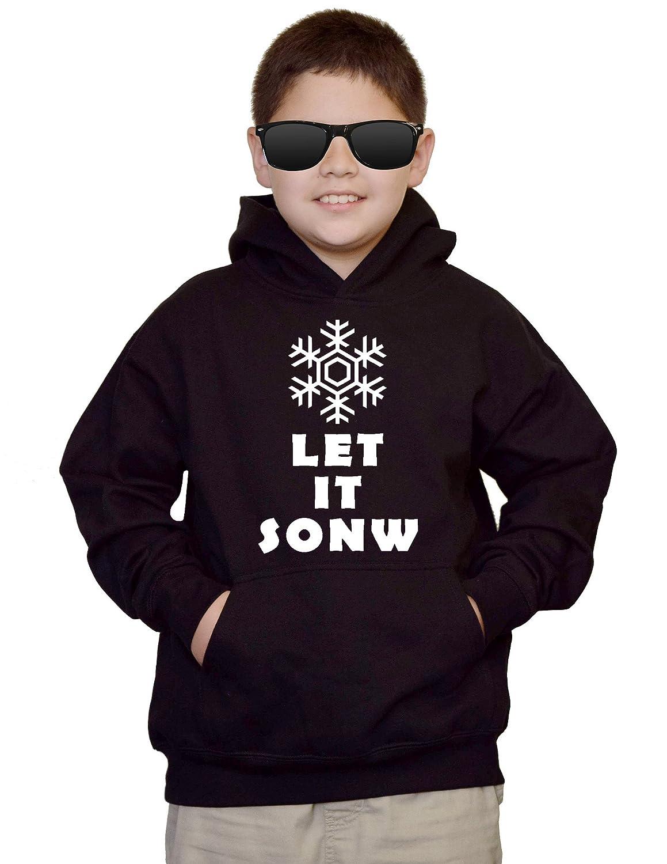 Youth Let It Snow V493 Black kids Sweatshirt Hoodie