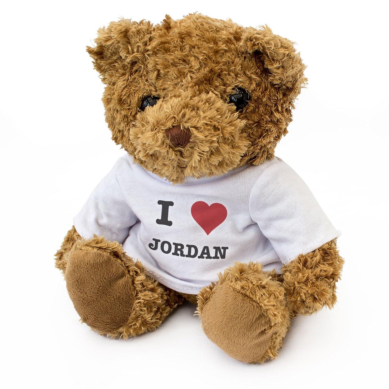 I Love Jordan - Osito De Peluche - Adorable Lindo - Regalo Obsequio Cumpleaños: Amazon.es: Jardín