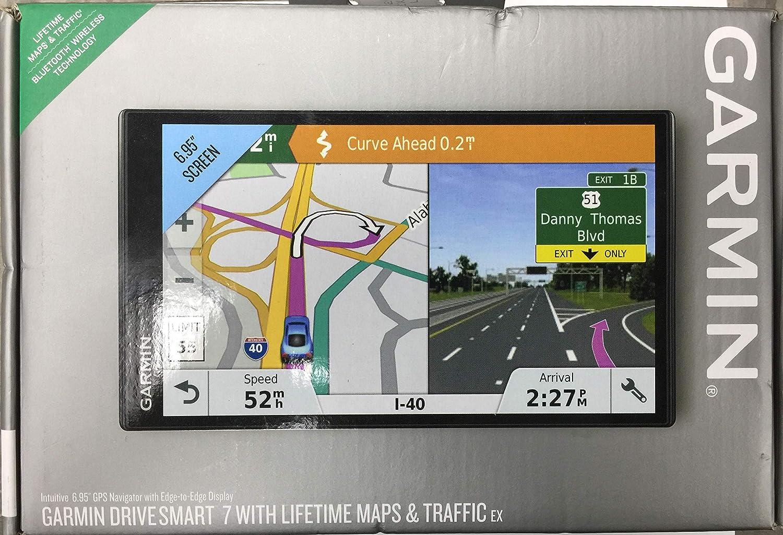 Amazon Com Garmin Drivesmart 7 W Lifetime Maps And Traffic Ex Sports Outdoors