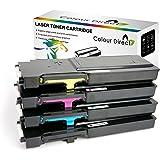 Full Set Colour Direct Compatible Cartucho de tóners Reemplazo para Dell C2660dn C2665dn C2665dnf Impresoras 6K Páginas Negro, 4K Páginas Colours