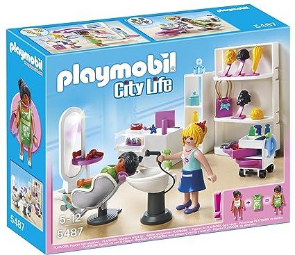 Amazon.com: Playmobil City Life salón de belleza – 5487 – 67 ...