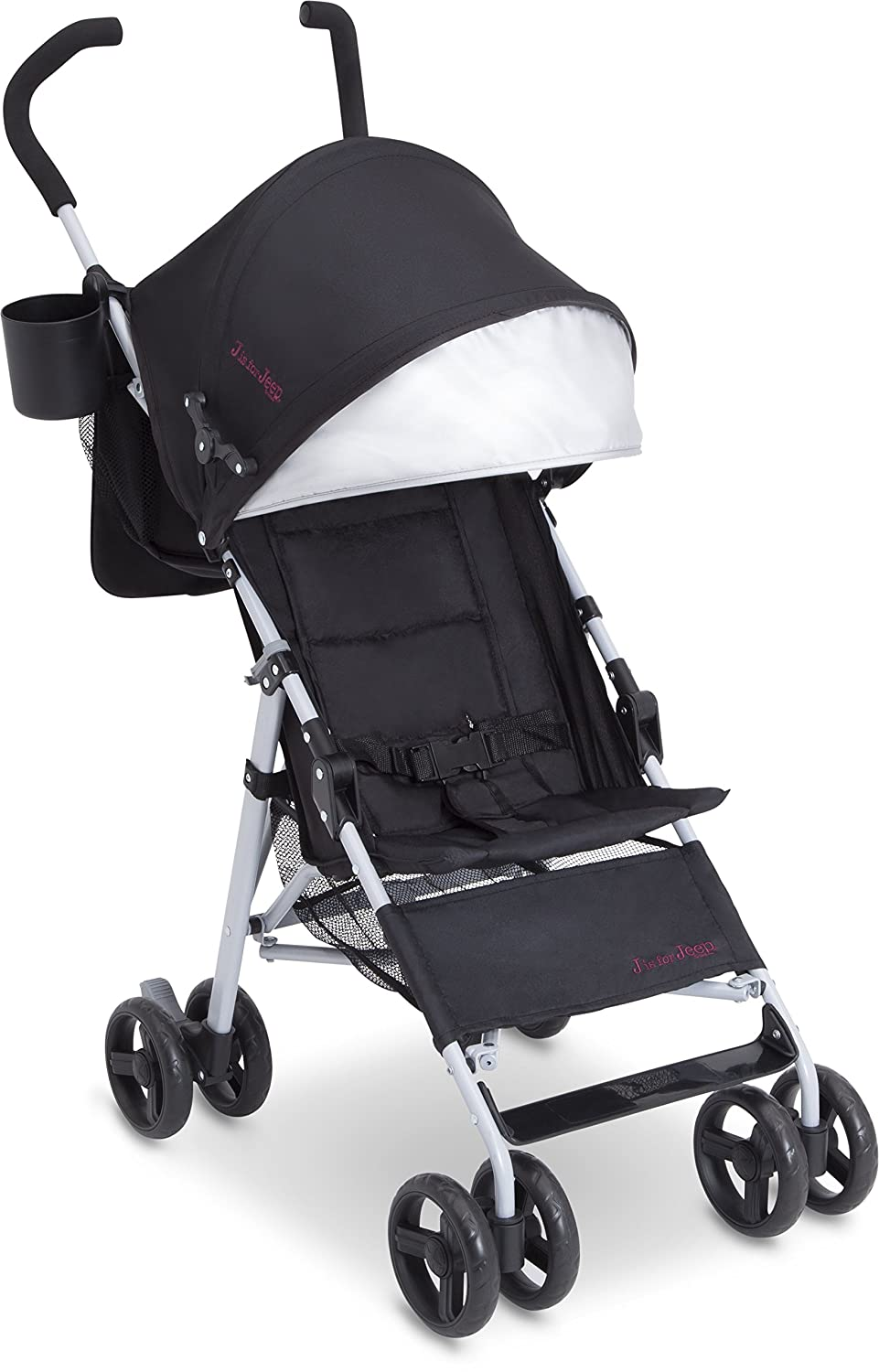 J is for Jeep Brand North Star Stroller, Black/Grey Delta Children 33098-2277