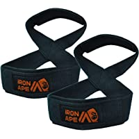 IRON APE Figure 8 Straps, for Deadlift, Weight Lifting, Shrugs, and Weightlifting. Suitable for Men and Women, Entry…