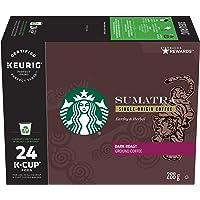 Starbucks Sumatra Dark Roast Coffee, Single Serve Keurig Certified Recyclable K-Cup Pods for Keurig Brewers, 24 Count