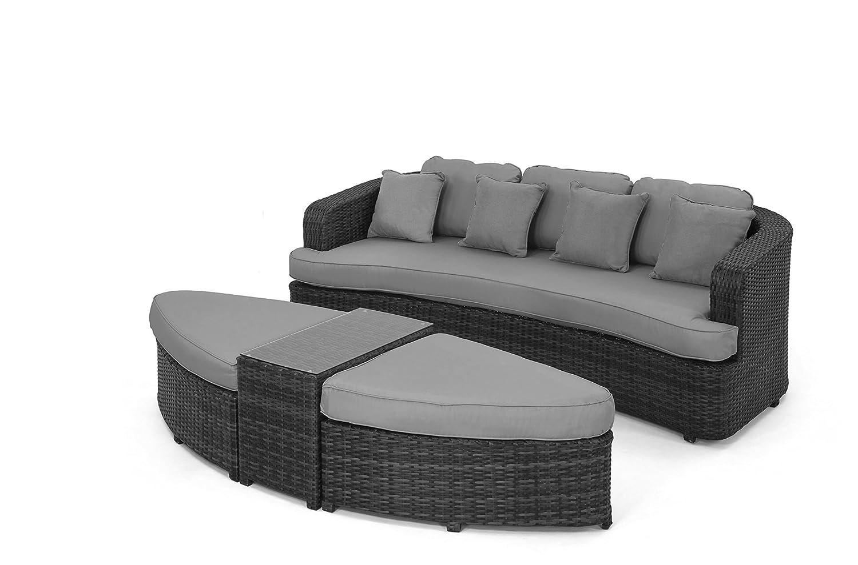 Cool Loungeset Toronto Dekoration Von Maze Rattan Daybed In A Mixed Grey